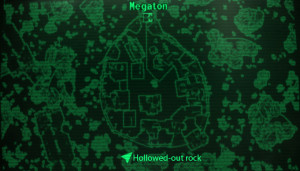 Fo3 hollowed out rock loc map