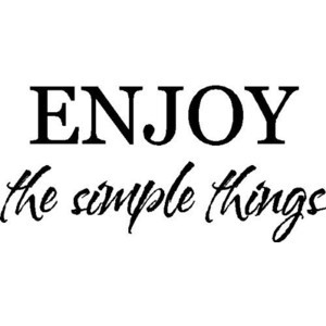 Enjoy the simple things..Entryway Wall Quotes Sayings Words Removable ...