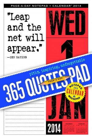 365 Quotes Page-a-Day Notepad and 2014 Calendar