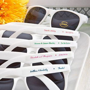 ... White Frame Wedding Sunglasses Favors - AVAILABLE 07-01-2015