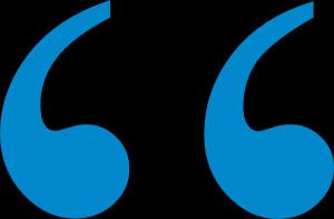 Blue1 Quote Mark clip art