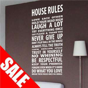 Large Family Love Hope Wall Quotes / Wall Stickers/ Wall Decals / Wall