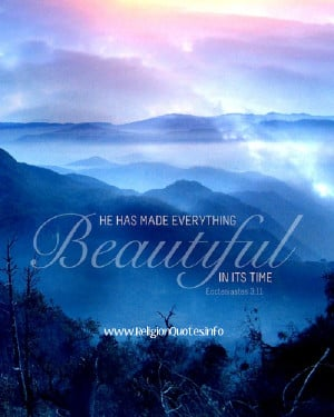 He made everything Beautiful