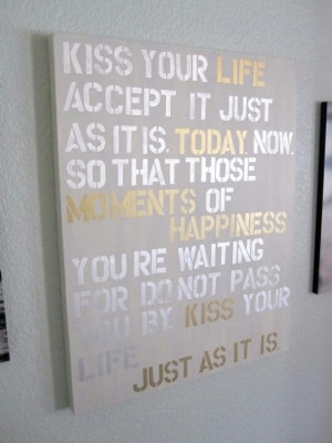 DIY QUOTE ON WALL CANVAS.. I can do this. Paint a canvas, get stencils ...