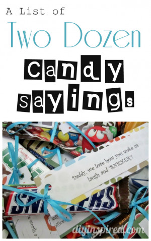 List of Two Dozen Candy Sayings
