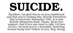 Suicide Prevention Quotes Tumblr Death mine depression suicide
