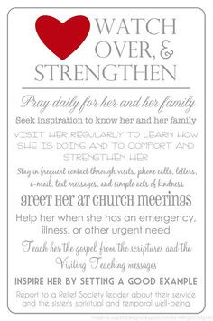 visiting teaching handout more teaching lessons women of faith relief ...
