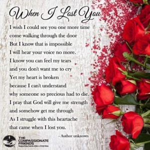 Mom, when I lost you…. love love quotes quotes quote miss you death ...