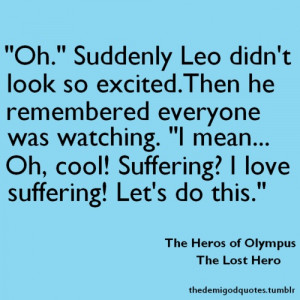 The Heroes of Olympus PJO and HoO Quotes