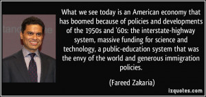 What we see today is an American economy that has boomed because of ...