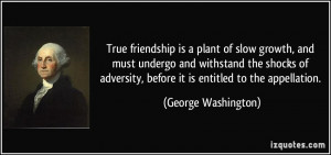 ... , before it is entitled to the appellation. - George Washington