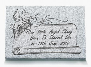 STILL BORN BABY MEMORIAL Colour: Grey Granite
