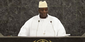 ... Quote, which is this statement by the President of the Gambia, Yahya