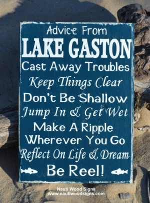 ... lake signs, lake life, wooden plaque, lake decor and advice from a