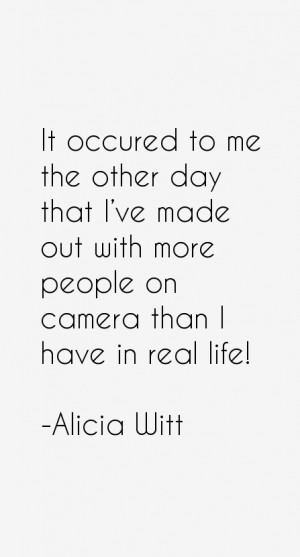 Alicia Witt Quotes amp Sayings
