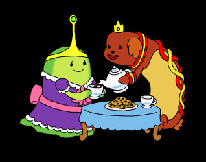 tea_time_with_slime_princess_and_hot_dog_princess_by_toonskribblez ...