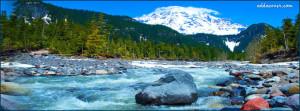 River Running Through the Mountains Facebook Cover