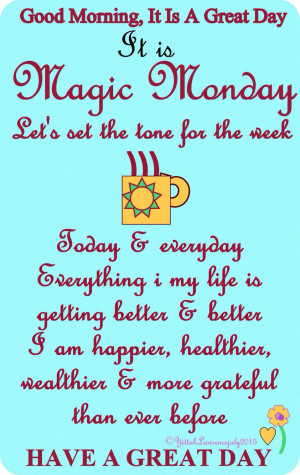 Good Morning Monday Quote