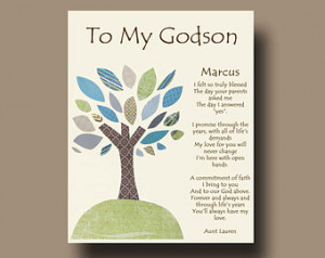 Gift for Godson - Per sonalized gift for Godson - Gift from Godmother ...