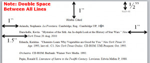 Image of an MLA Works Cited Page
