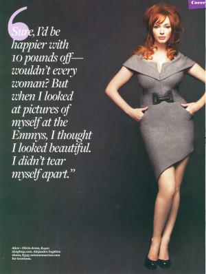 Alors évidemment, Christina se retrouve à parler de son poids dans ...