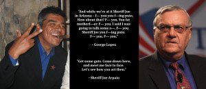 Graphic Quotes: George Lopez vs. Sheriff Joe Arpaio