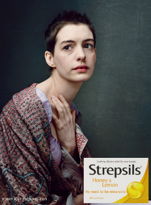 Funny Les Miserables - Anne Hathaway - Vogue - Strepsils