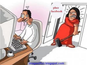 Husband and Wife funny Cartoon Images