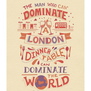 The London Dinner Table - Oscar Wilde quote