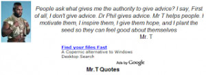 add mr t quotes gadget to your blog