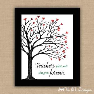 Teachers Plant Seeds That Grow Forever PRINTABLE. Custom Teacher Name ...