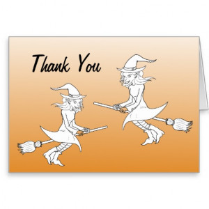 Halloween Witch Baby Shower Thank You Cards
