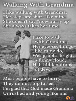 Poem: Walking With Grandma