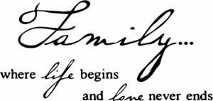 Family Life - Vinyl Wall Quotes - Wall Decal - Vinyl Lettering (32104)