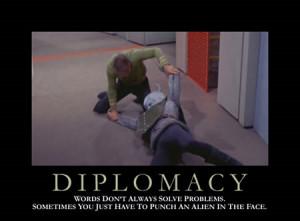 diplomacy star trek motivational poster