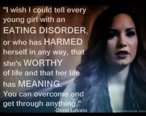 demi lovato eating disorder quote: Demilovato, Eating Disorders, Body ...