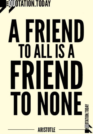 Quotations | Aristotle – Quotes on Friendship