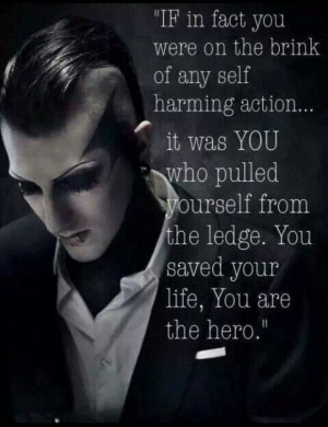 Chris motionless And they said he was a terrible guy... Hahaha, you're ...