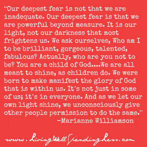 Our deepest fear quote--love this! #quotations