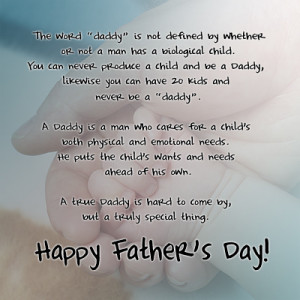 Just want to wish all the dads, step-dad etc. a Happy Fathers day!