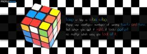 Rubix Cube Love Quote Facebook Cover