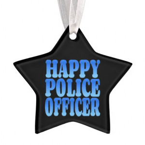 Happy Police Officer in Blue