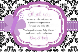 ... Baby Shower Thank You Cards ~ Cute Sayings Baby Shower Thank You Cards