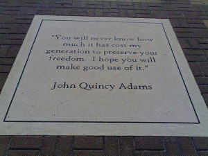 Sad John Quincy Adams Quote Is Turning Over In Its Grave
