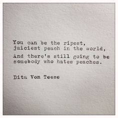 Dita Von Teese Quote Typed on Typewriter by farmnflea on Etsy, $9.00 ...