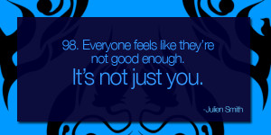 quotes about not being good enough for him