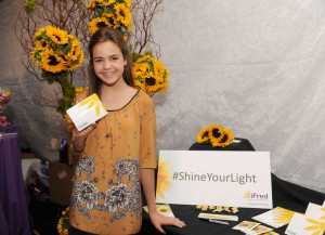 Actress Bailee Madison stopped by and shared an inspiring quote about ...
