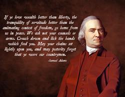 Samuel adams pro war quote