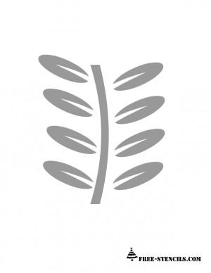 Branch Stencil Printable...