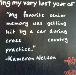 Quote From School Yearbook Favorite Senior Moment Was
